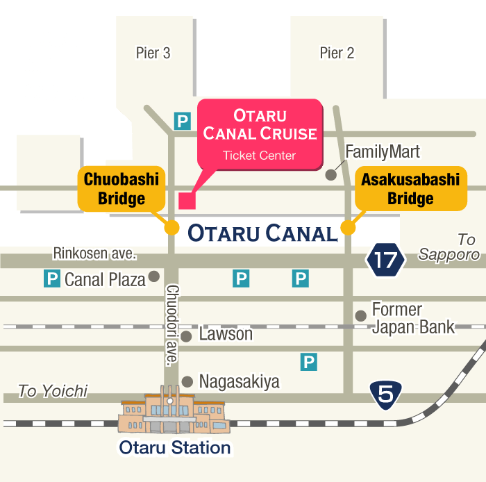 Access map to the ticket center