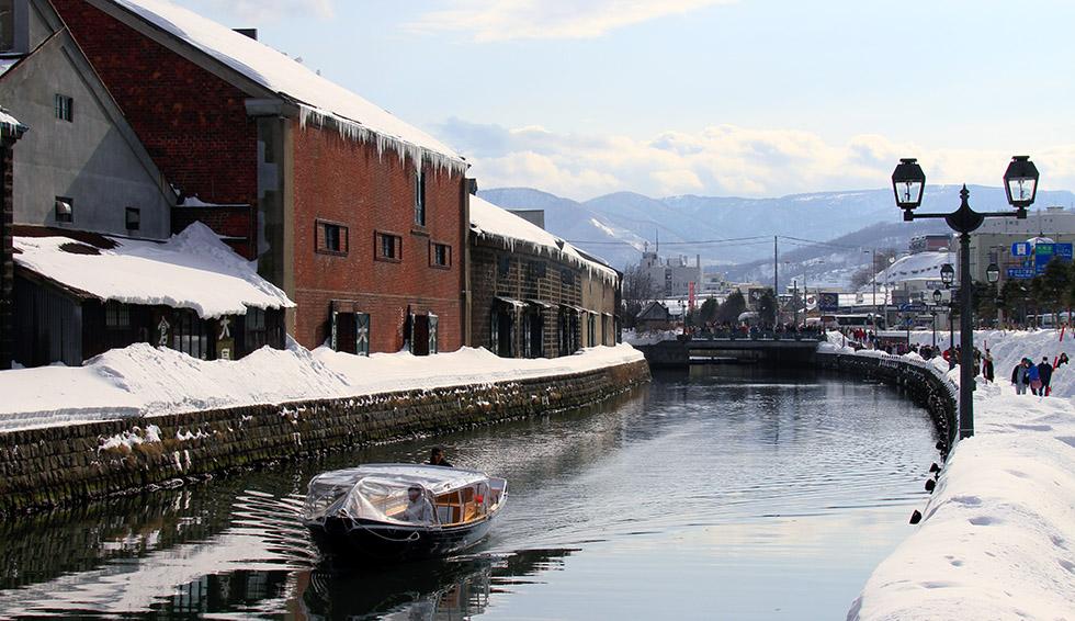 冬の小樽運河クルーズ